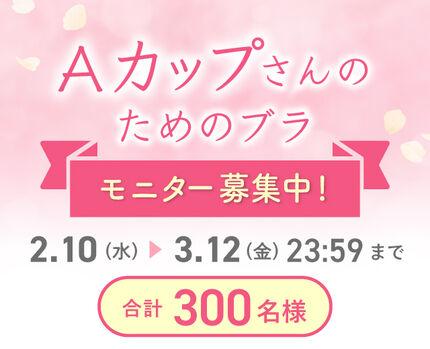 【注目】Aカップさんのためのブラモニターキャンペーン