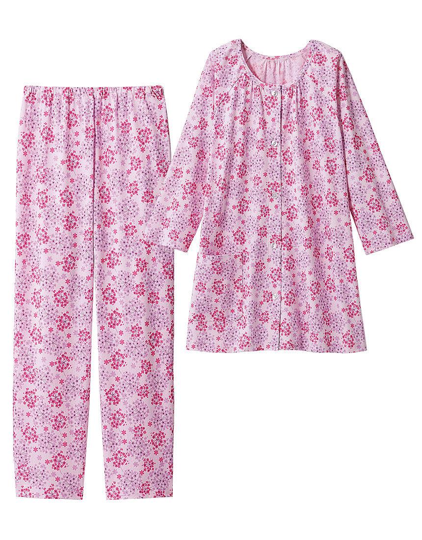 綿100%の小花柄パジャマ