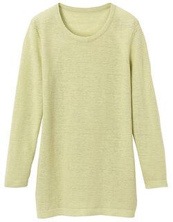 麻ラウンドネックセーター