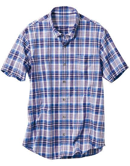 麻混半袖ボタンダウンシャツ(男性用), , main