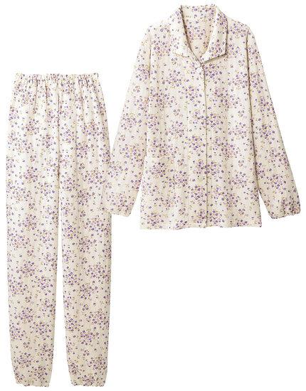 ニットキルトの花柄パジャマ, , main