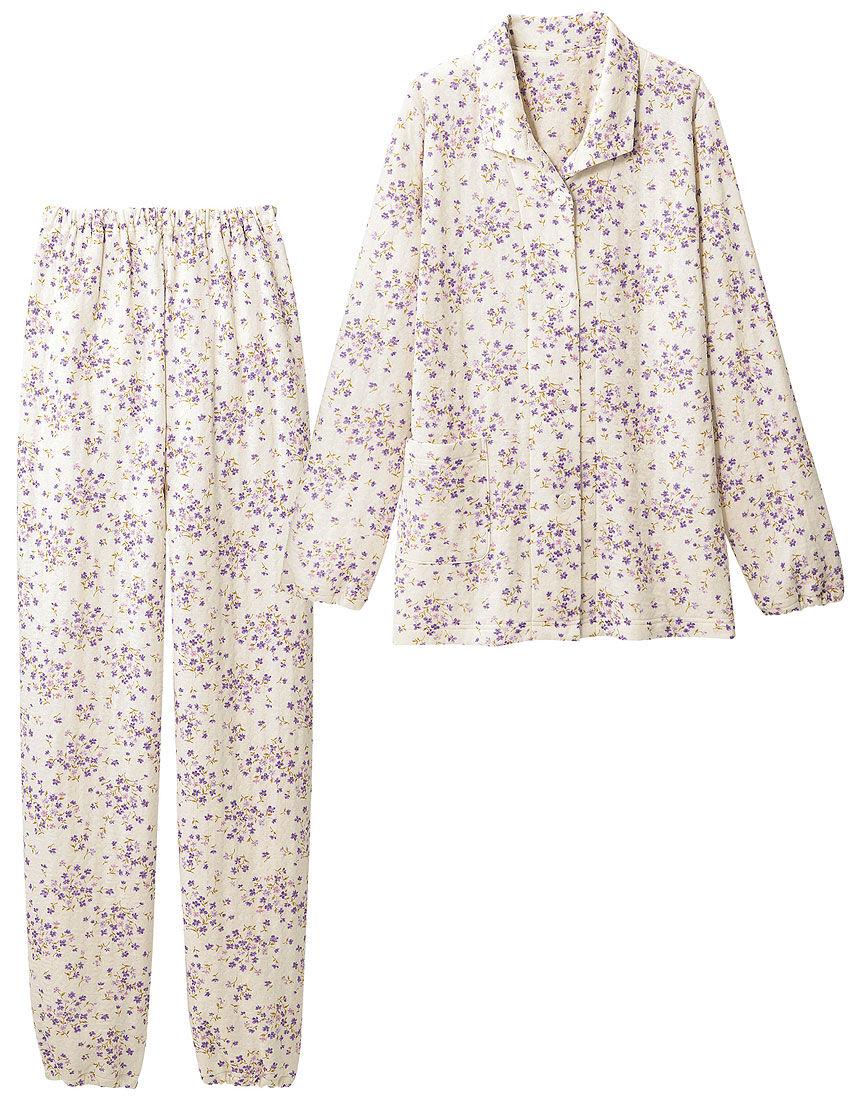 ニットキルトの花柄パジャマ, , hi-res