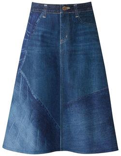 〈まるでデニム〉スカート  スカート