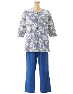 綿100%【七分袖・前開き】 パジャマ