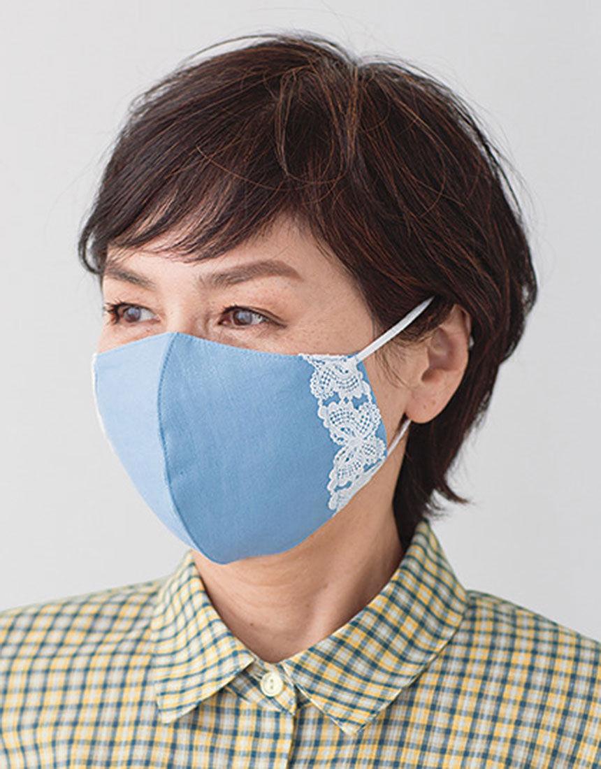 ハナエモリ パピヨンレースマスク, , hi-res