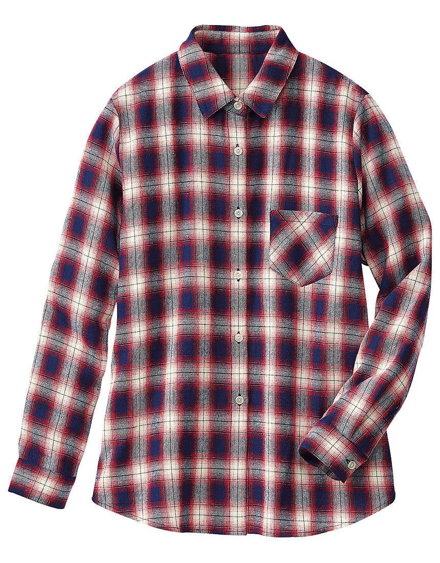 先染チェックシャツ