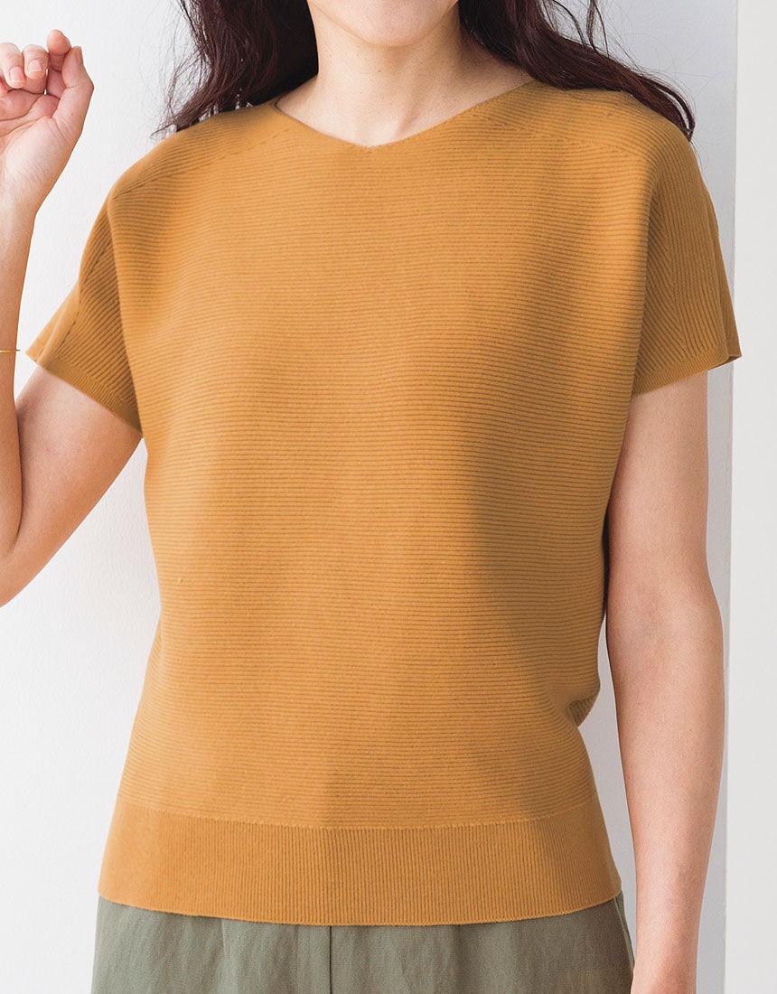ホールガーメントフレンチスリーブセーター, , hi-res