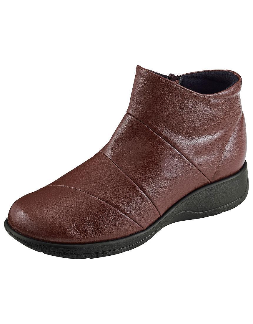 【足囲5E】 ゆったり牛革撥水ブーツ5E