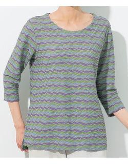 ジャカードボーダーTシャツ