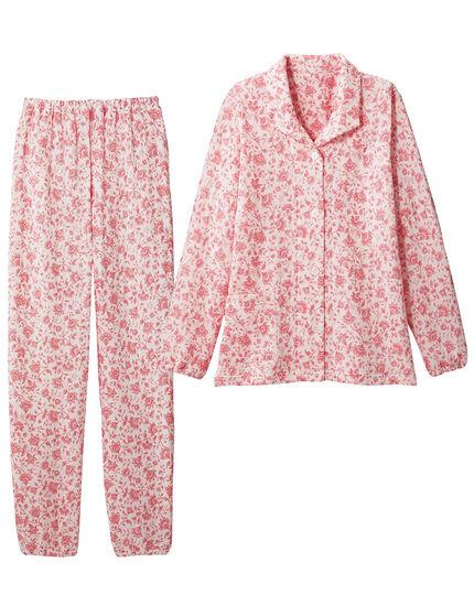 ニットキルトのあったか花柄パジャマ, , main