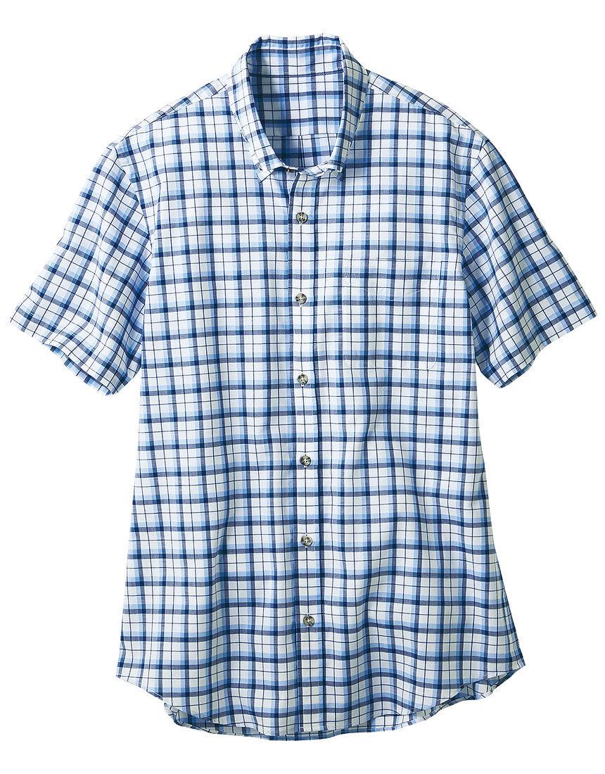 コットン半袖ボタンダウンシャツ(男性用), , hi-res