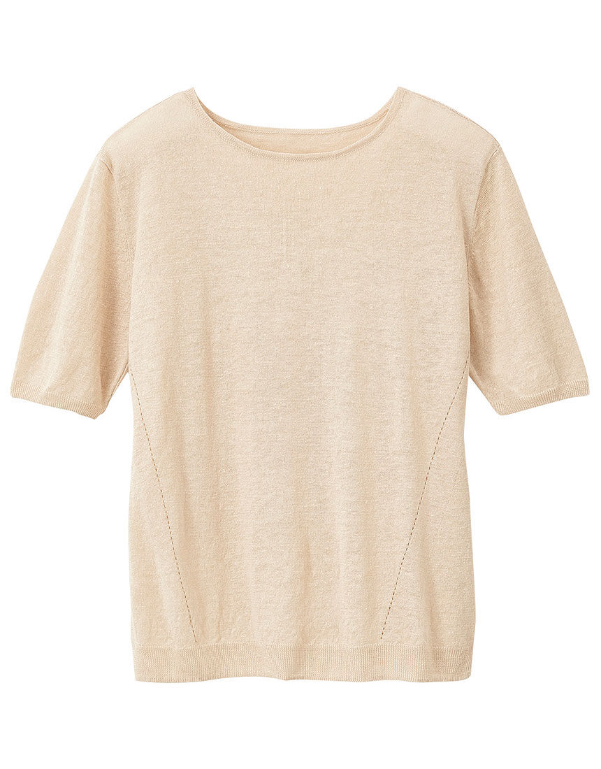 リネンデザインセーター