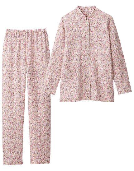 ニットキルトのスタンドカラーパジャマ, , main