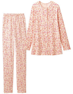 綿100%の更紗柄パジャマ