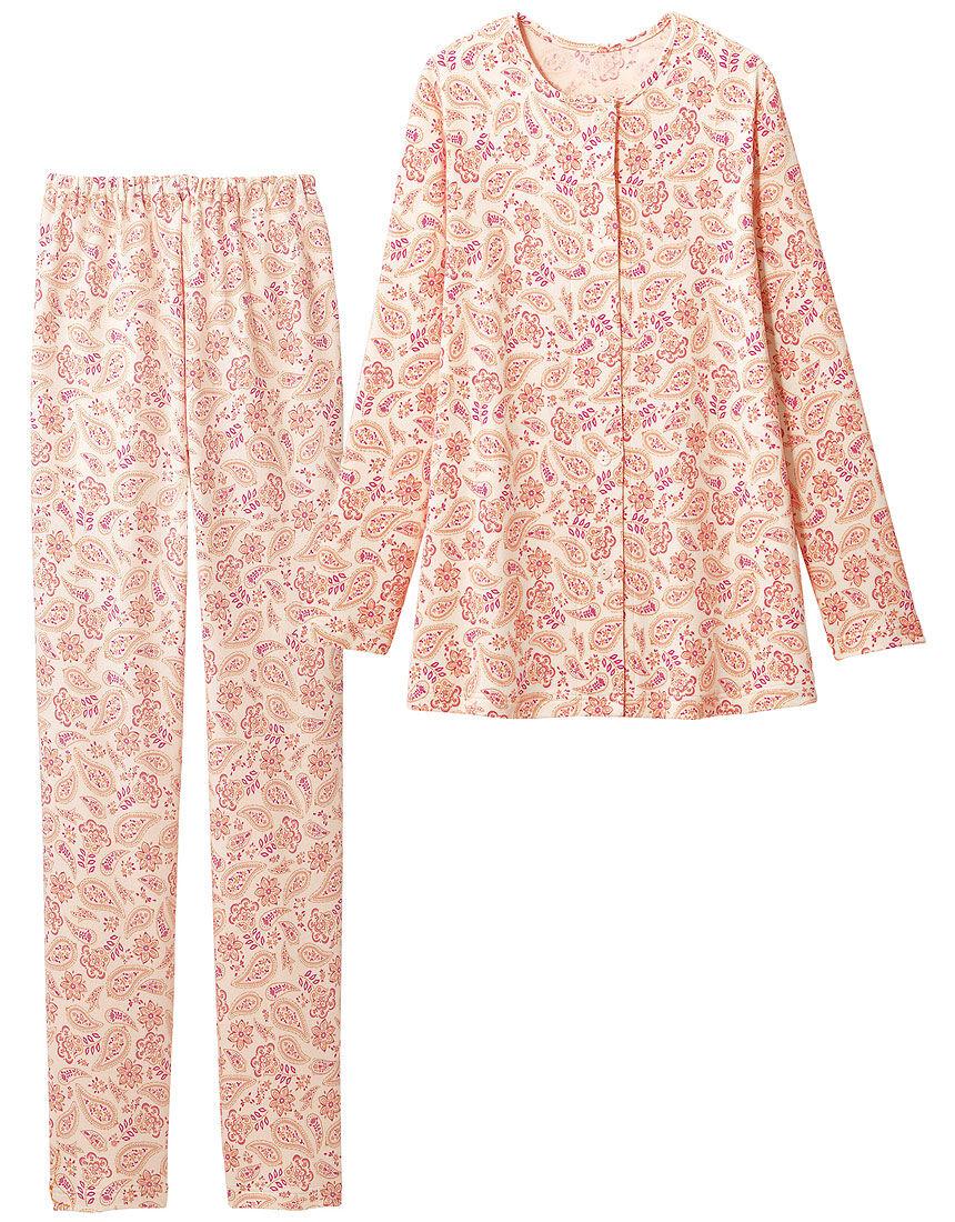 綿100%の更紗柄パジャマ, , hi-res