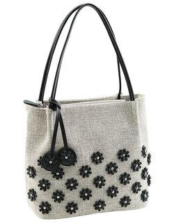 花柄モチーフ付バッグ