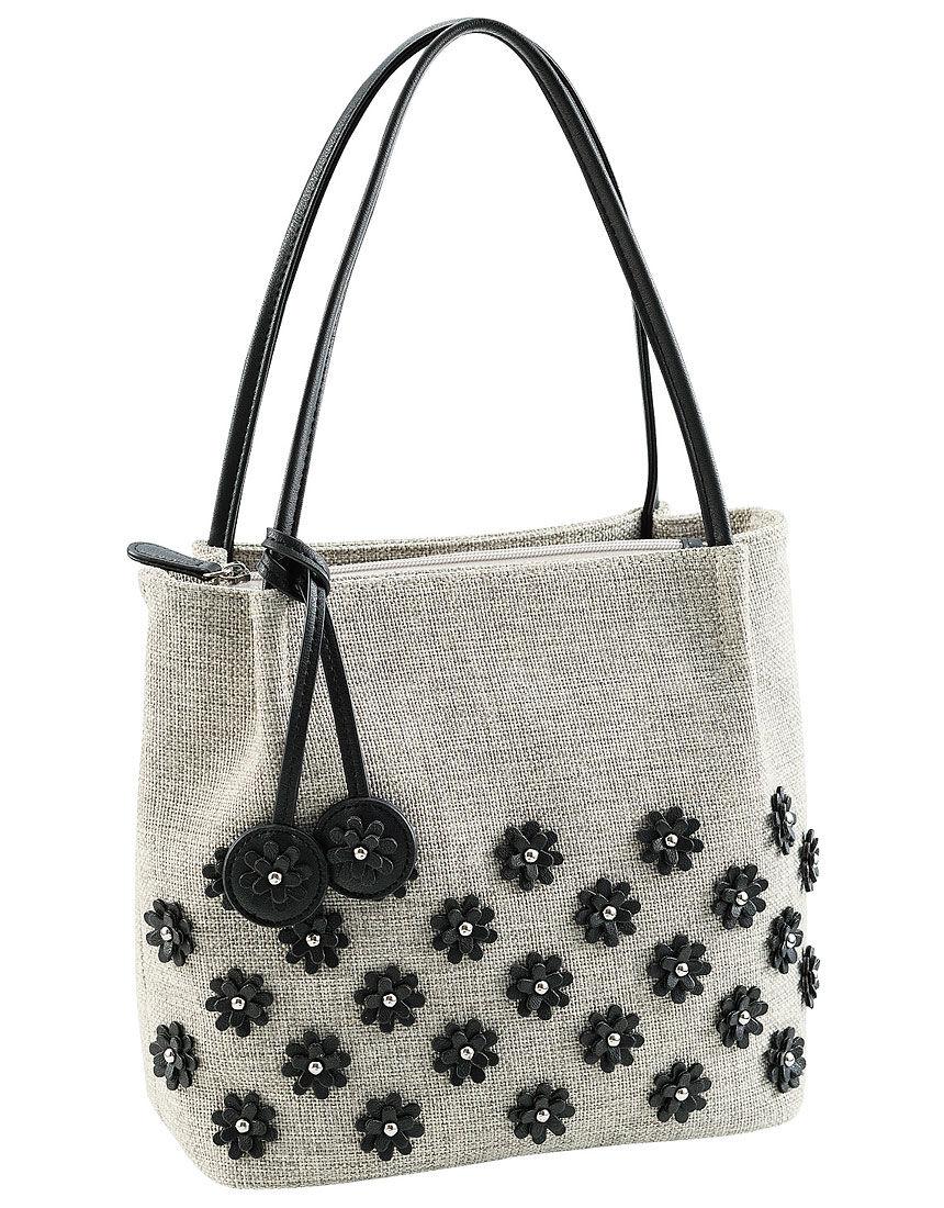 花柄モチーフ付バッグ, , hi-res