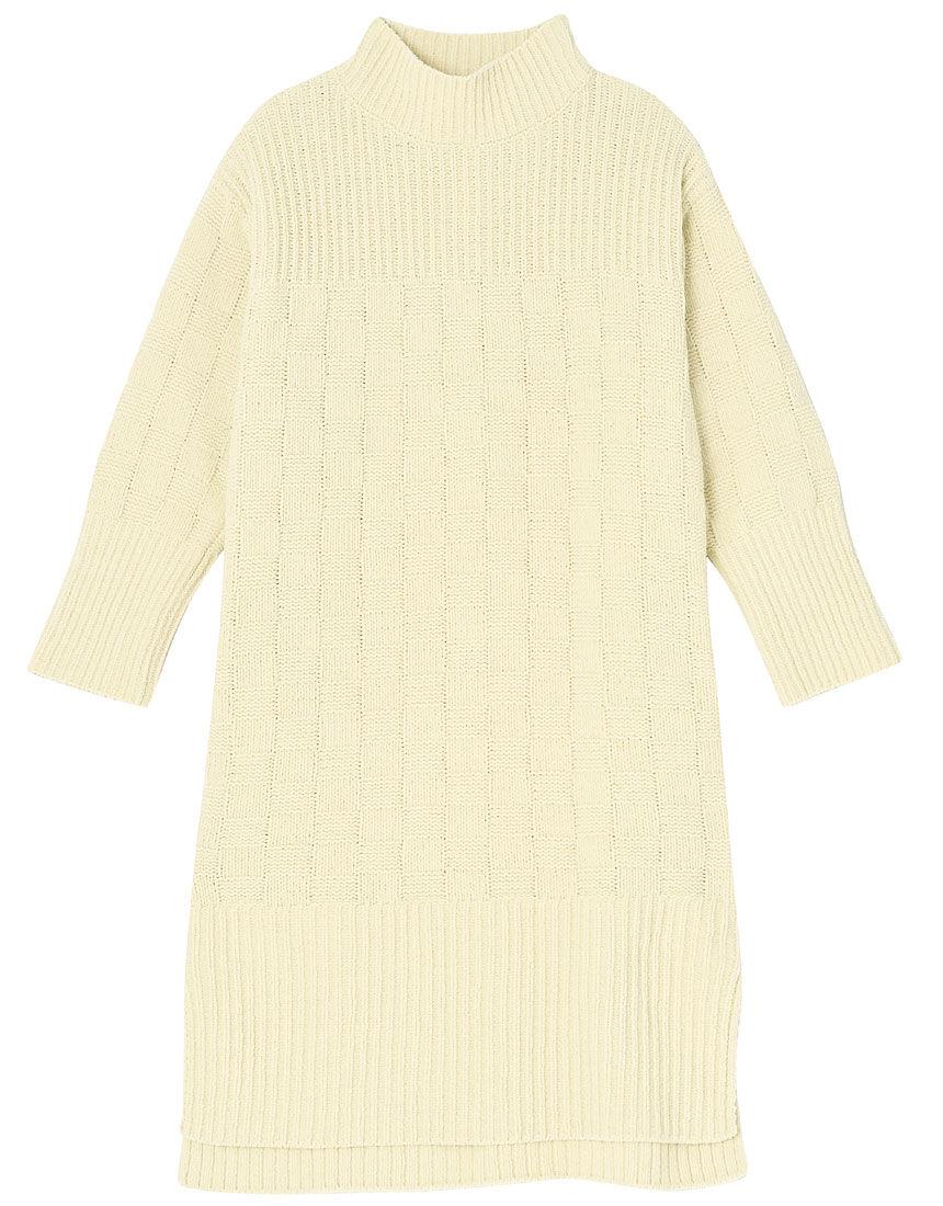モコモコルーム ichimatsu knit ワンピース