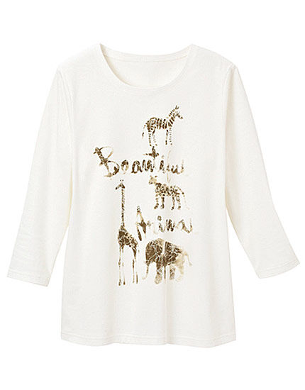 アニマルプリントTシャツ, , main