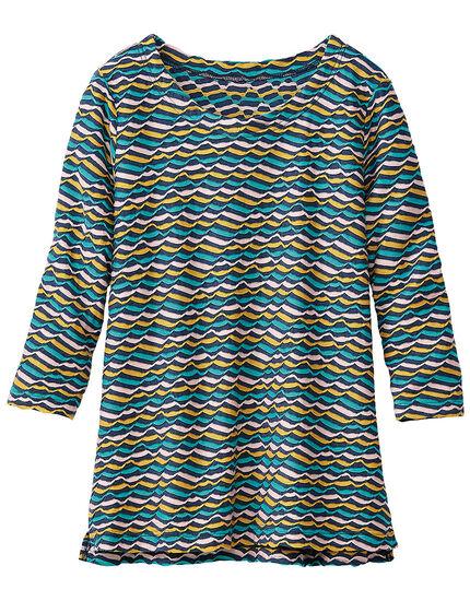 ジャカードボーダーTシャツ, , main