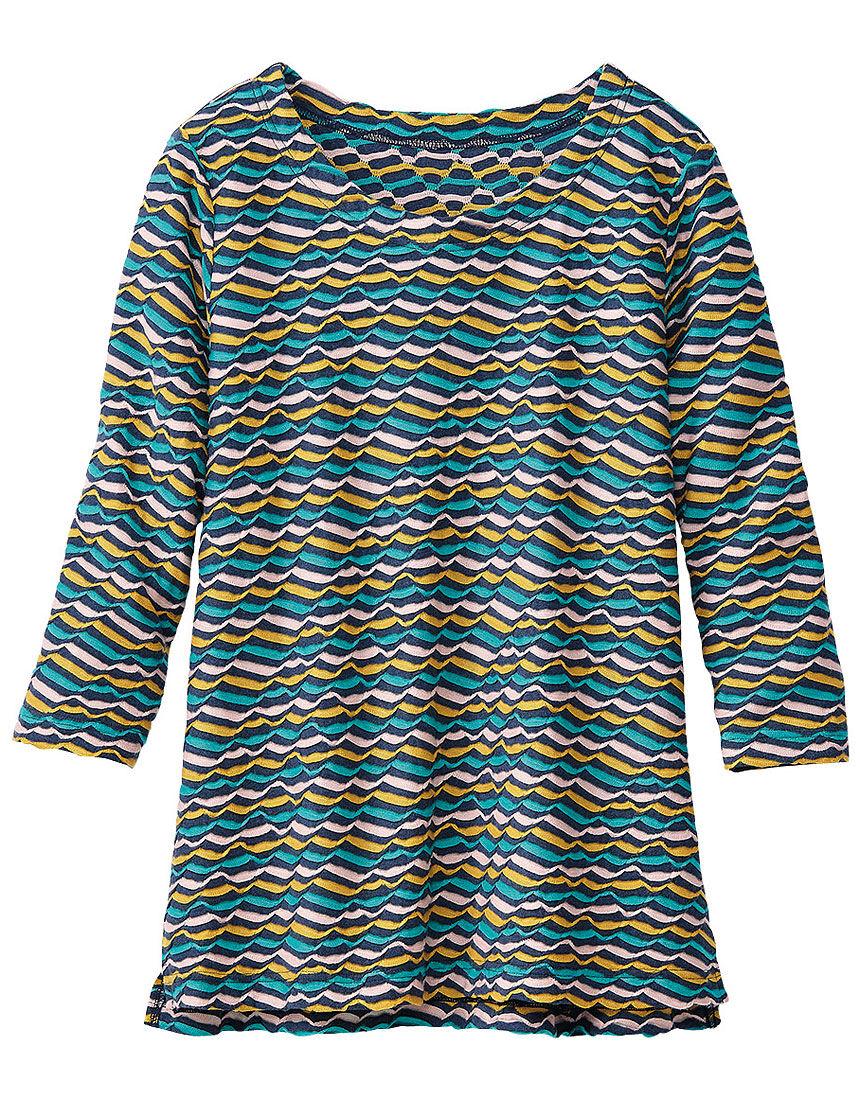 ジャカードボーダーTシャツ, , hi-res