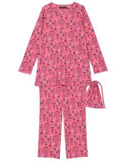 【シルク】 巾着付 パジャマ