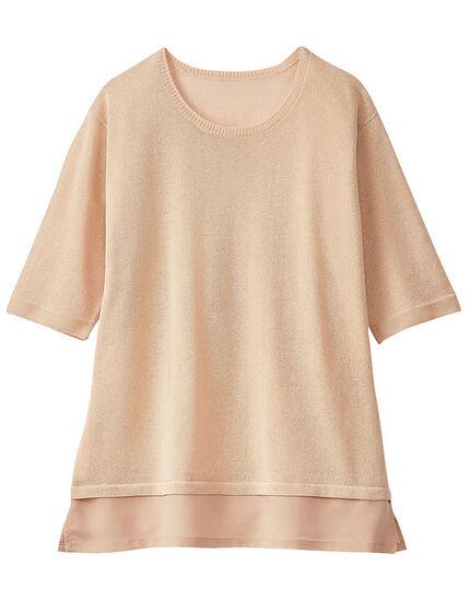 裾切替セーター, , main