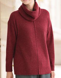 スヌード付セーター