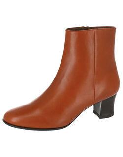 5.5cmヒール ラウンドトゥ ブーツ
