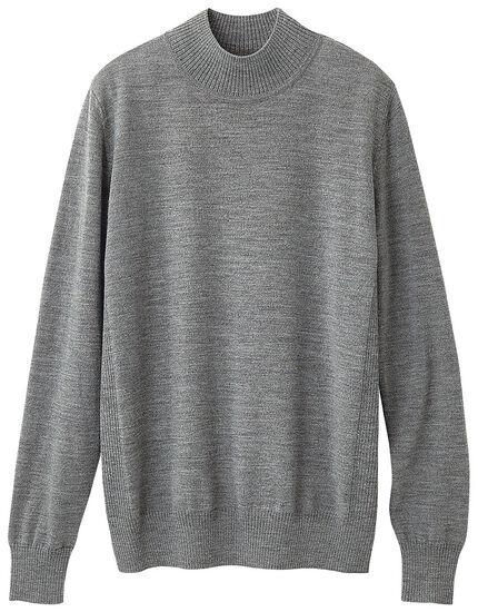 ウォッシャブルウールハイネックセーター, , main