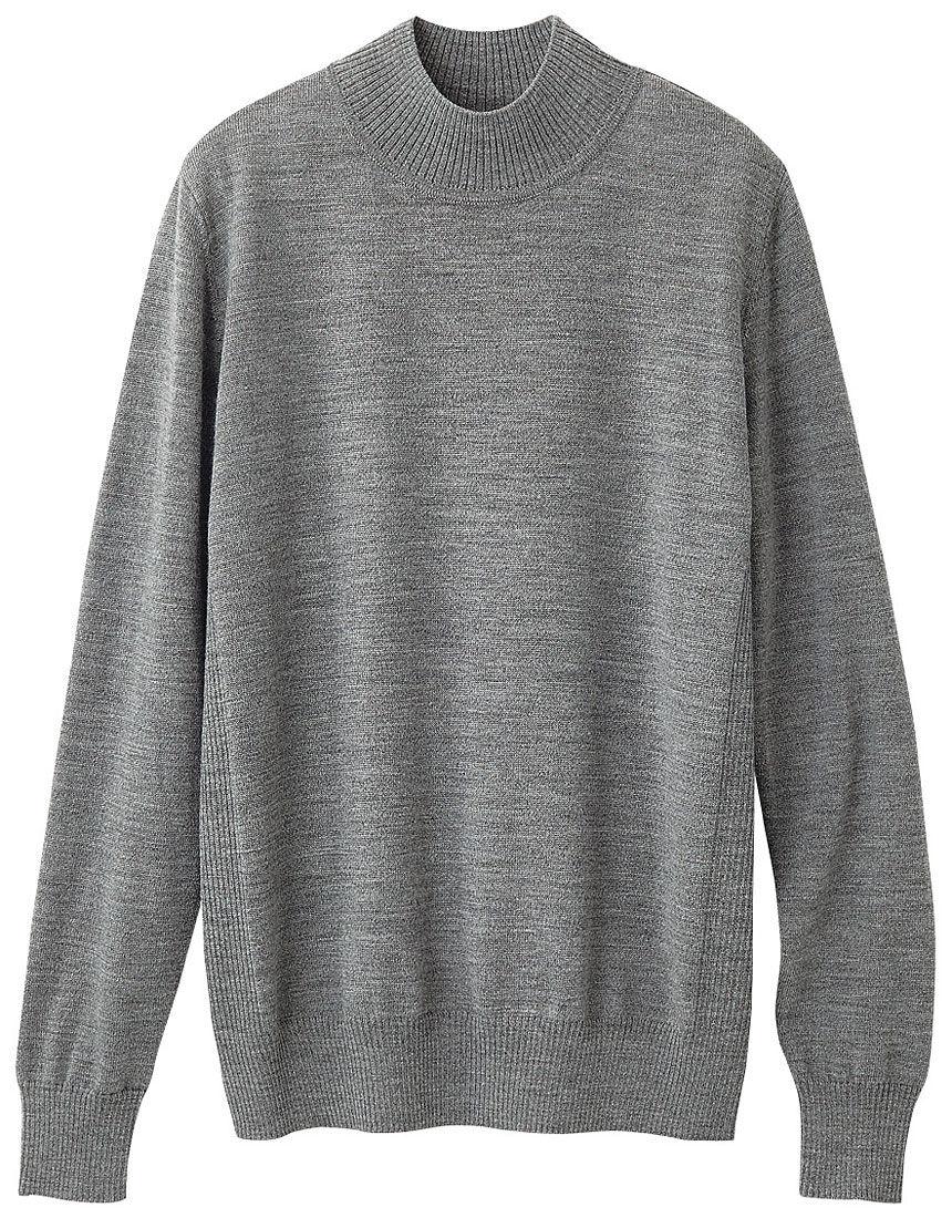 ウォッシャブルウールハイネックセーター, , hi-res