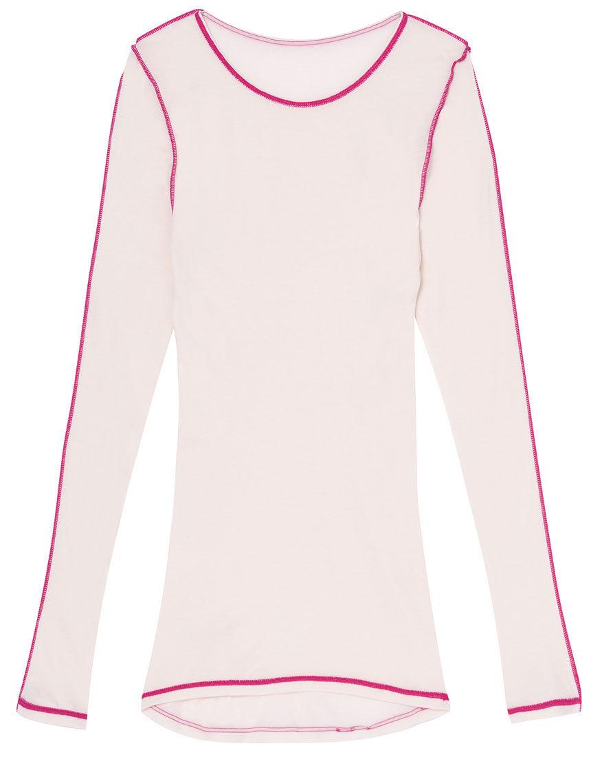 ナナシャツあったかふわふわタイプ クルーネック トップス(9分袖)