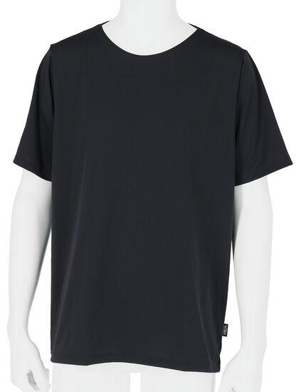 メンズシャツ(丸首3分袖), , main
