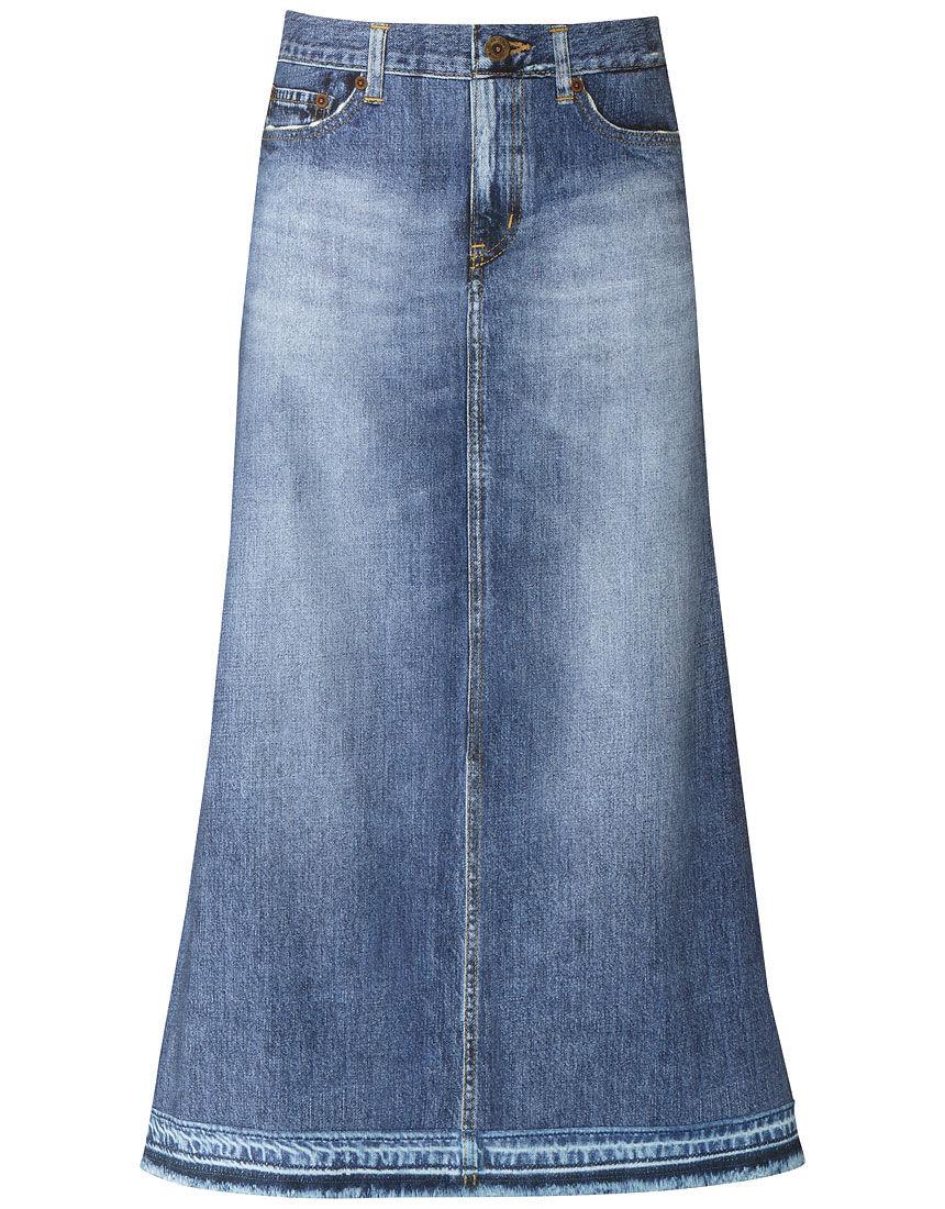 〈まるでデニム〉ロングスカート  スカート