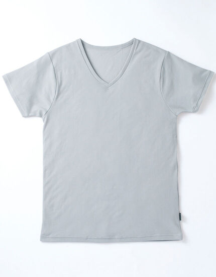 V首半袖シャツ, , main