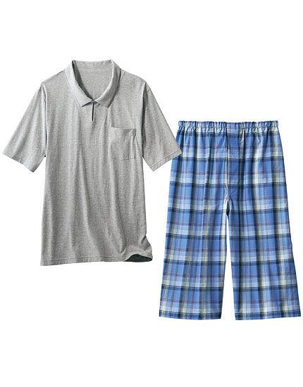 綿100%のさわやかパジャマ(男性用), , main