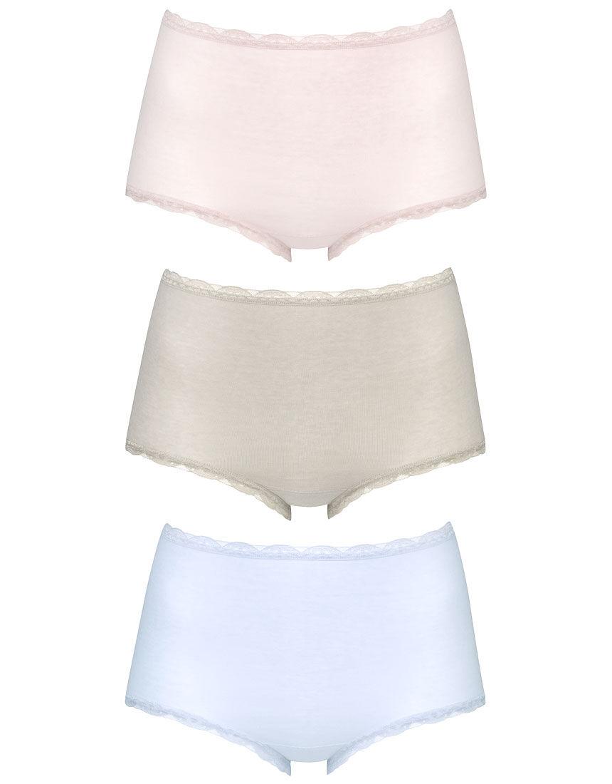 おトクな3枚セット(はきこみ丈深め)〜肌側綿100%(身生地部)〜 ショーツ