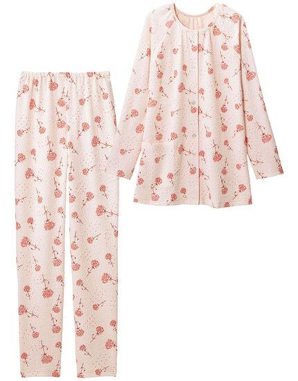 ふくれジャカード花柄パジャマ, , main