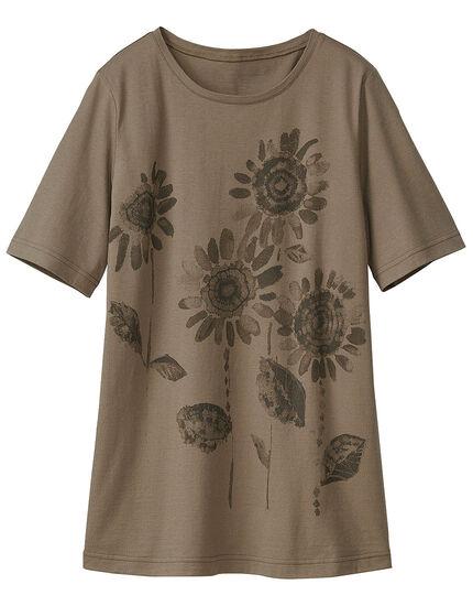 ひまわりプリントTシャツ, , main
