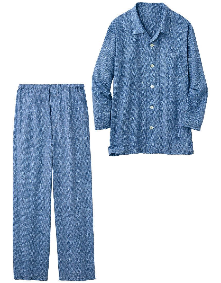 二重ガーゼのパジャマ(男性用), , hi-res