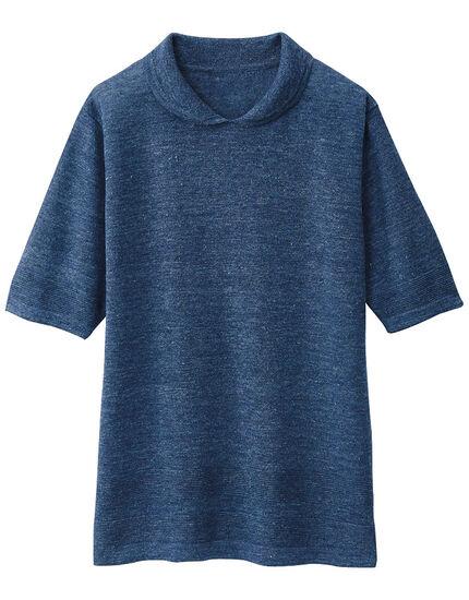 麻襟付デザインセーター, , main