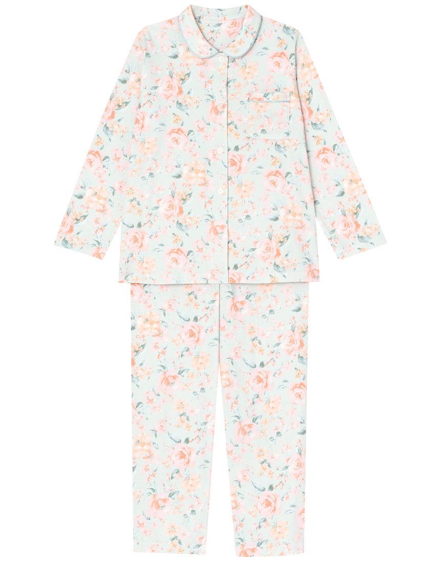 【綿100%】ローズ柄 パジャマ