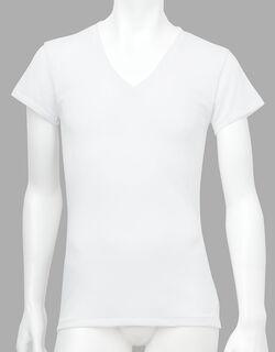 薄い、軽い、涼しい メンズシャツ(1分袖)