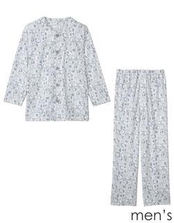 紳士【長袖・エッグボタン(R)】 メンズパジャマ
