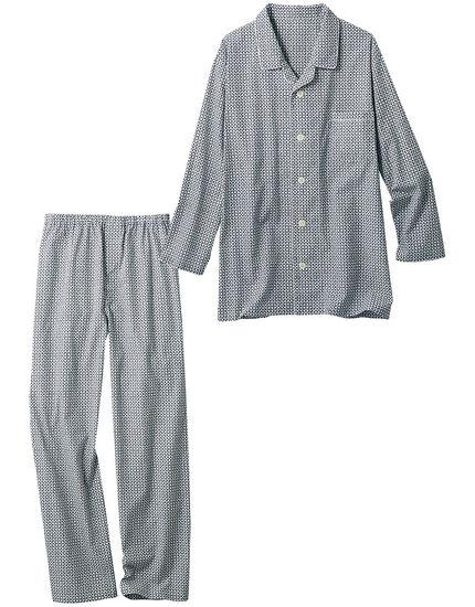 綿100%の小紋柄パジャマ(男性用), , main