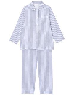 肌感(R)パジャマ【綿100%】【二重ガーゼ】ストライプ柄 パジャマ