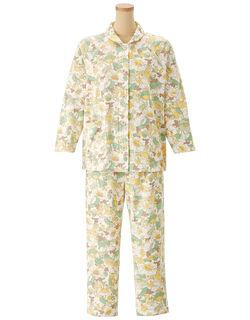 家庭用タンブル乾燥機対応【長袖・エッグボタン(R)】  パジャマ