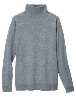ウォッシャブルボトルネックセーター