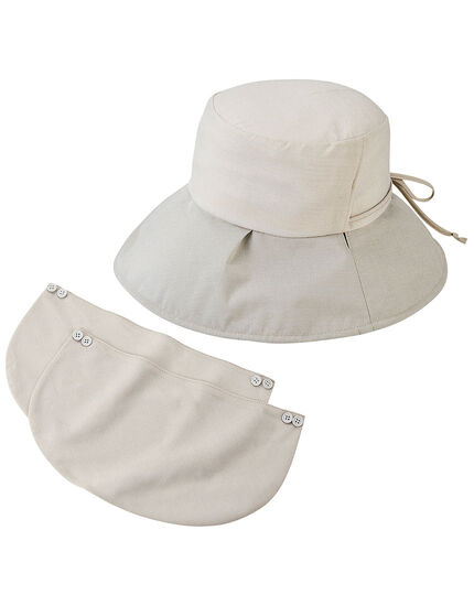 フェイスガード付UVカット帽子, , main