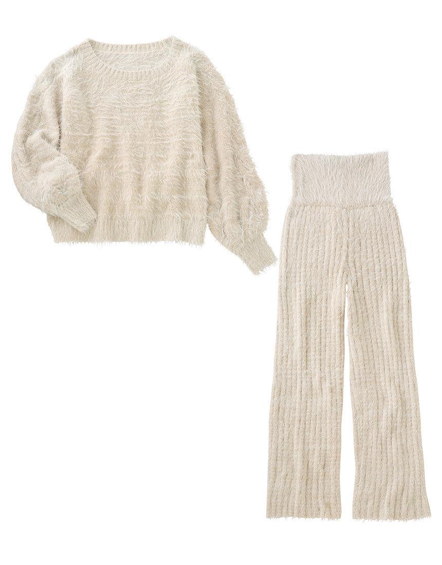 【田中みな実さん着用!腹巻き付きでおなか暖か、柔らか上下セットアップ】フェザーヤーン HARAマキ パジャマ